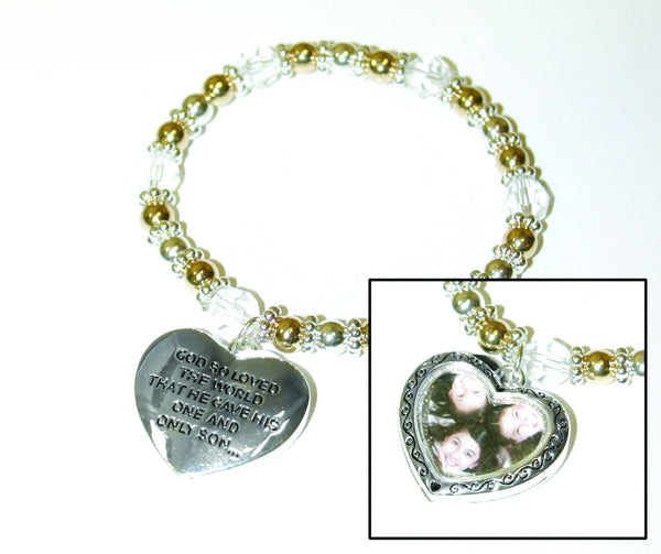 Divinity Boutique Heart Picture Frame Bracelet
