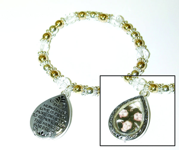Divinity Boutique Tear Drop Picture Frame Bracelet
