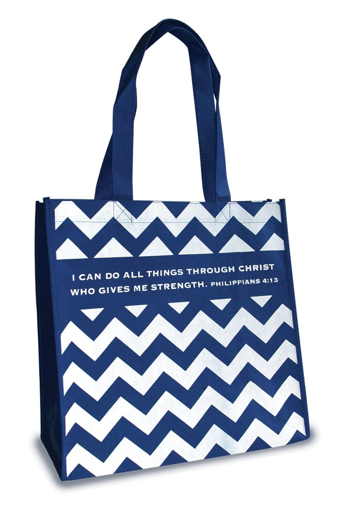 Divinity Boutique Eco Tote: Chevron Phil 4: 13
