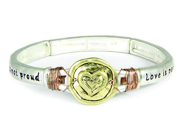 Divinity Boutique 1 Corinthians 13: 4 Stretch Bracelet