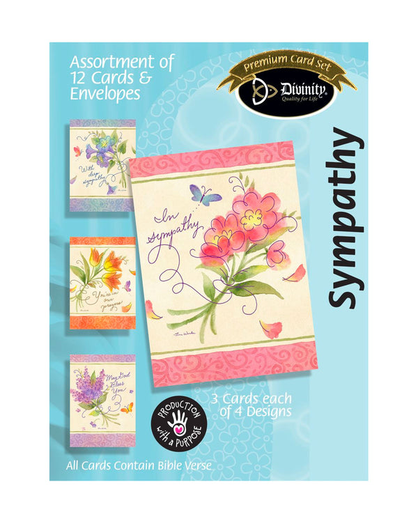 Boxed Cards: Sympathy, Bouquets And Swirls