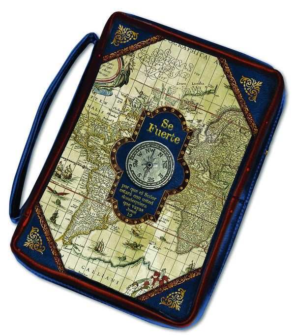 Divinity Boutique Spanish Nautical: Compass Embellishment Bible Cover