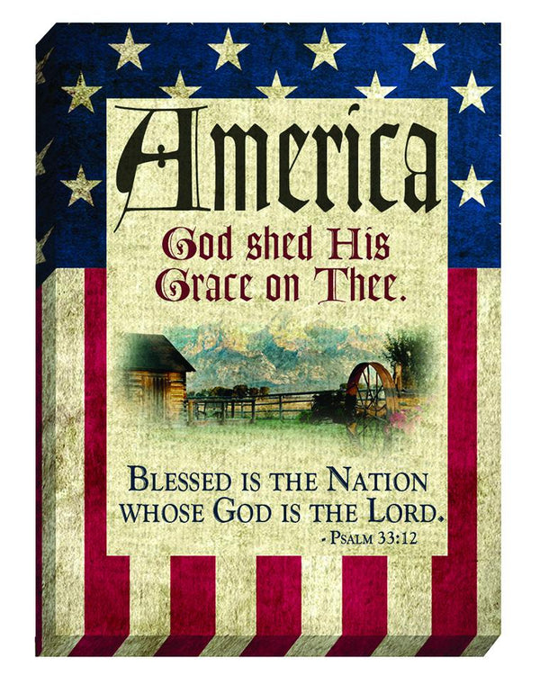 Divinity Boutique God Bless America: Canvas Magnet