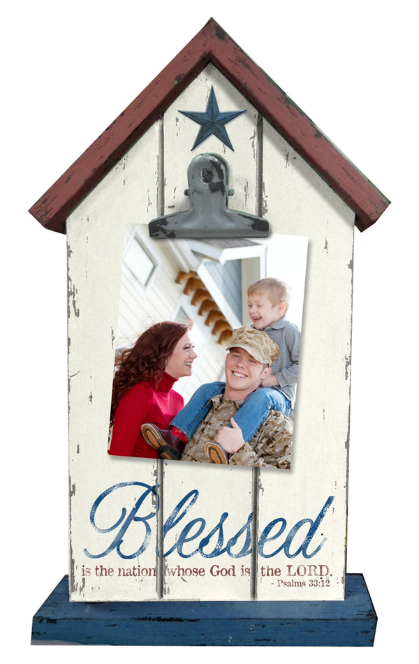 Divinity Boutique God Bless America: Wooden House Picture Clip