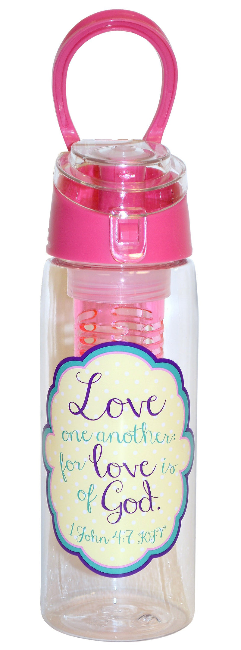 Divinity Boutique Infused Water Bottles - Pink - Love One Another