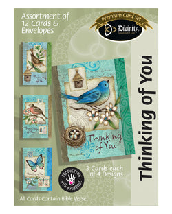 Boxed Cards: Thinking Of You - Blue Birds