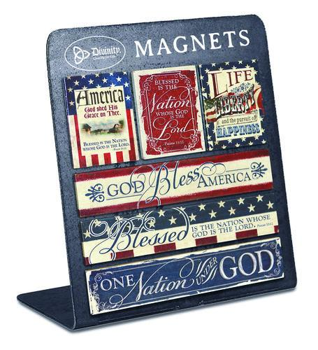 Divinity Boutique God Bless America Magnet (6 Pack)