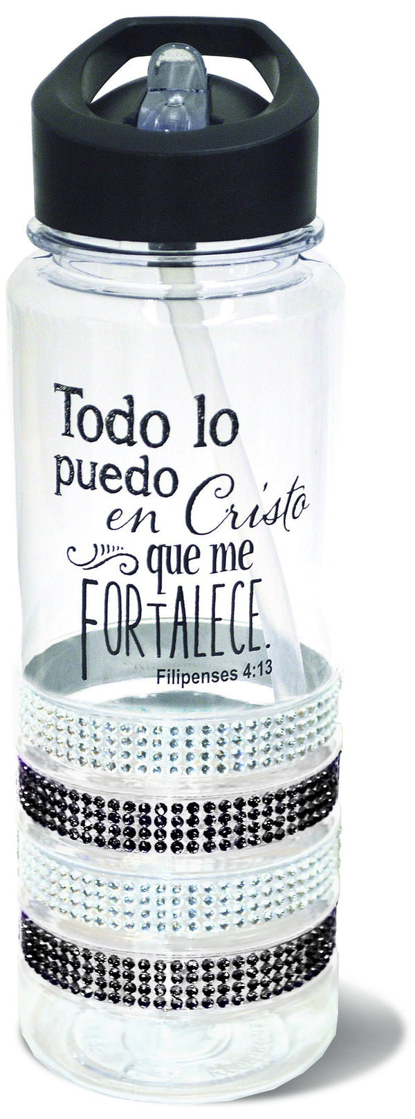 Divinity Boutique Spanish Black Gem Water Bottle