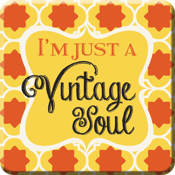 Oak Patch Gifts Retro Kitchen: Ceramic Magnet, Vintage Soul