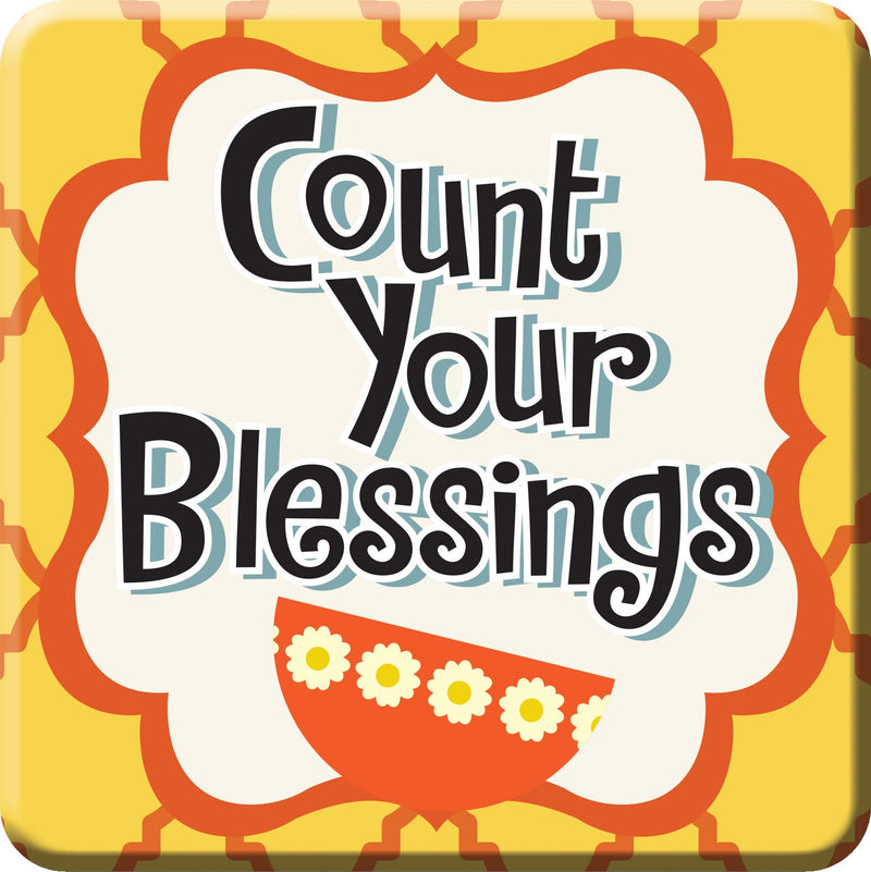 Oak Patch Gifts Retro Kitchen: Ceramic Magnet, Count Your Blessings