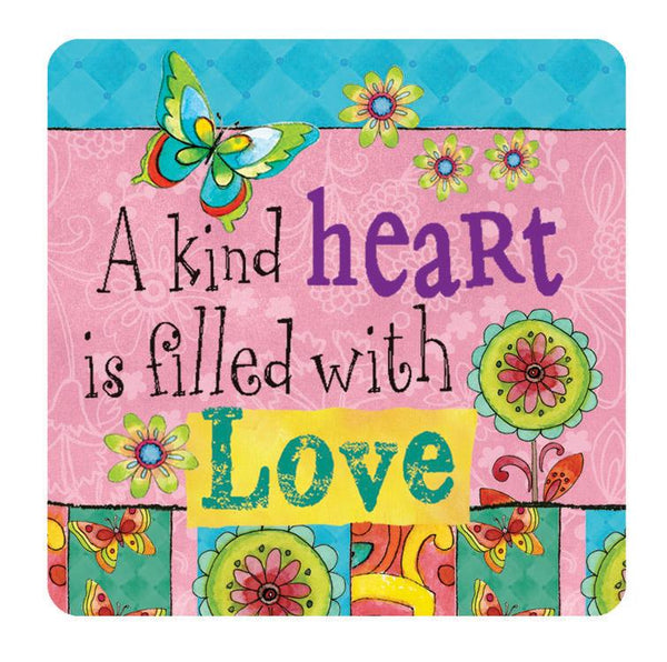 Oak Patch Gifts Hearts 'N Hugs: Ceramic Magnet, A kind Heart is filled with Love