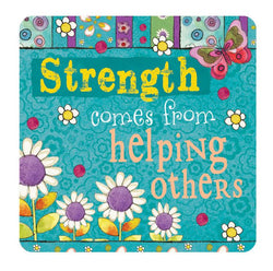 Divinity Boutique Hearts 'N Hugs: Ceramic Magnet - Strength comes from helping others