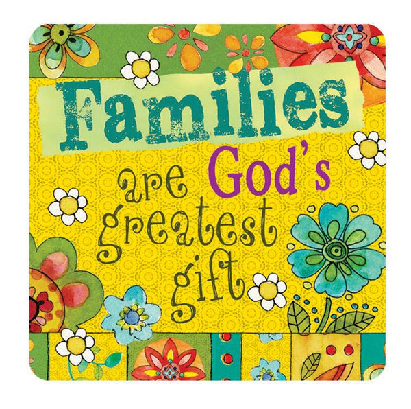 Divinity Boutique Hearts 'N Hugs: Ceramic Magnet - Families are God's greatest gift
