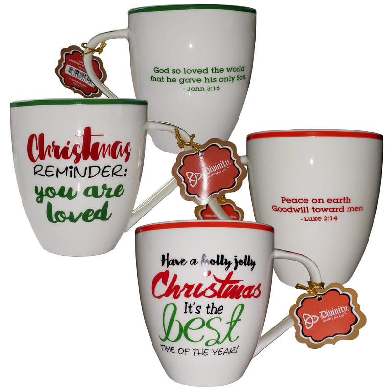Divinity Boutique Christmas Words Mugs Assortment