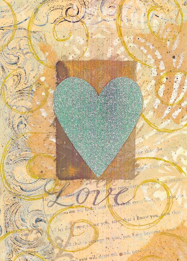 Divinity Boutique Single Cards: Teal Heart (6 Pack)