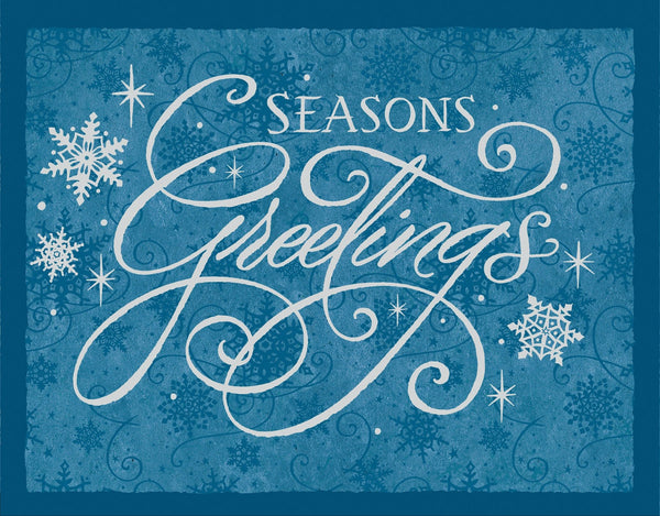 Divinity Boutique Boxed Christmas Cards: Season's Greetings Snowflakes