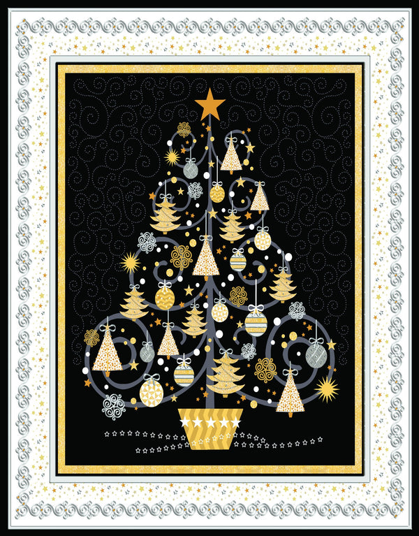 Divinity Boutique Boxed Christmas Cards: Silver And Gold Tree
