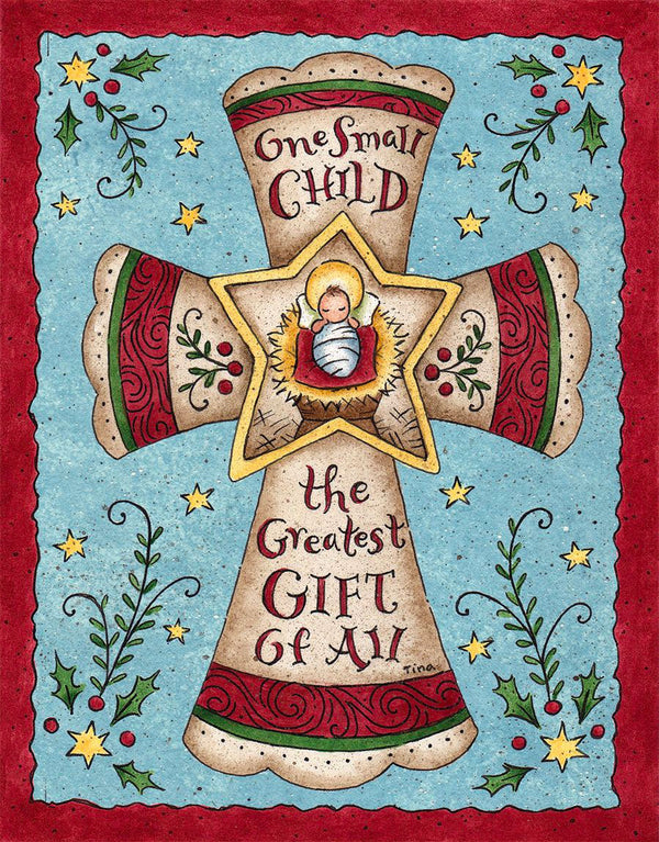 "Great way to express the Joy of Christ's birth to your family and friends! Stunning Christmas cards beautifully illustrated by Tina Wenke.. Premium quality paper and full color artwork inside and out. Box of 18 with 19 Coordinating envelopes. Heavy, linen embossed cardstock. Linen textured box can be reused as a keepsake box. Wide range of styles to choose from. Single design per box. Measures 5.375"" x 6.875"""