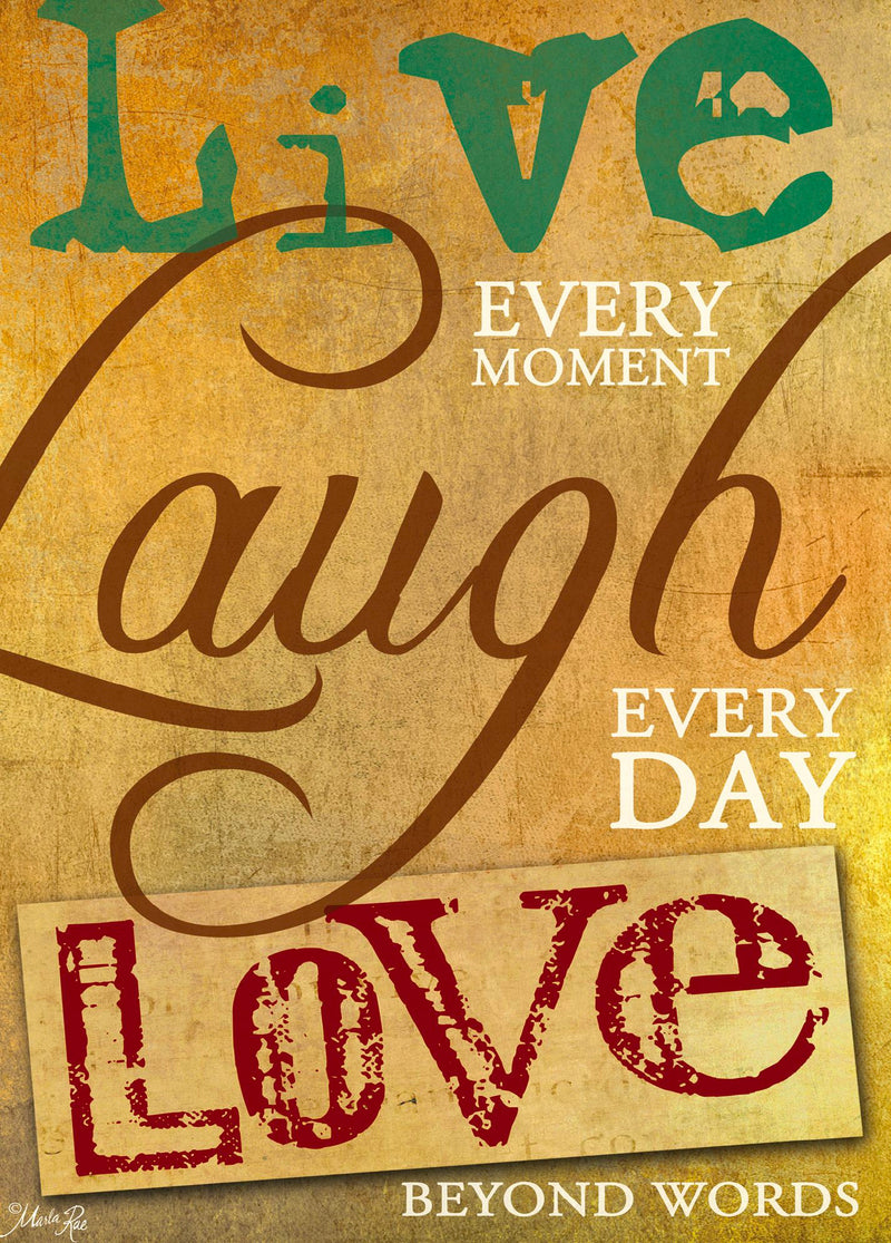 Single Cards: Live Laugh Love Words (6 Pack)