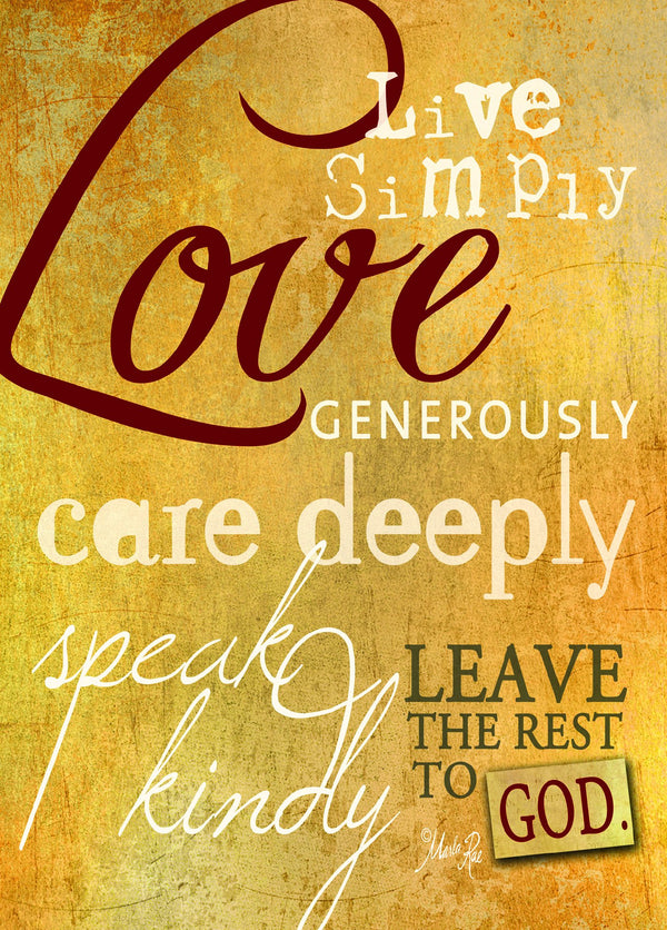 Divinity Boutique Single Cards: Live Simply Love Words (6 Pack)