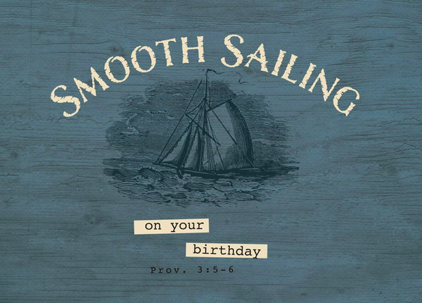 Single Cards: Sailboat Smooth Sailing (6 Pack)
