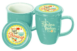 Divinity Boutique Retro Kitchen: Covered Mug (Scripture)