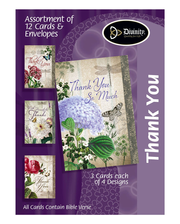 Boxed Cards: Thank You, Vintage Florals