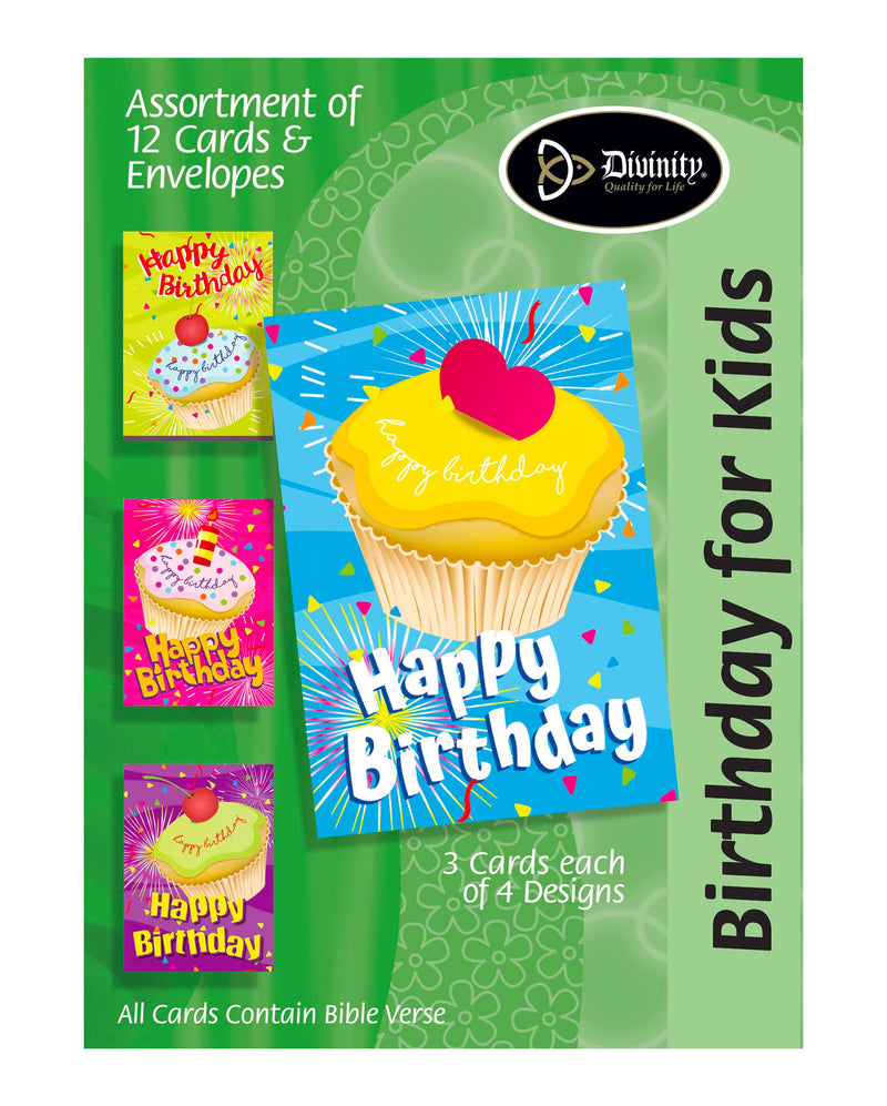 Divinity Boutique Boxed Cards: Happy Birthday, Cupcake