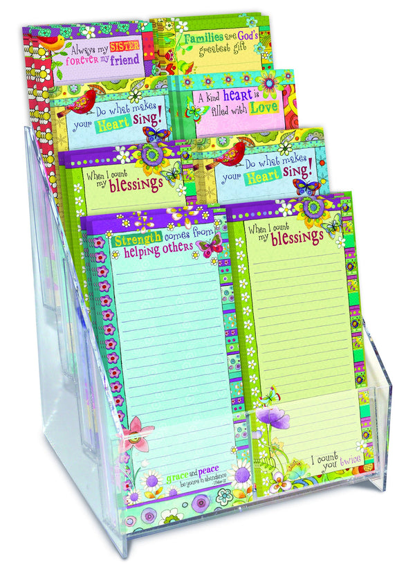 Divinity Boutique Magnetic Memo Listpad Display W/ Offset-Hearts 'N Hugs