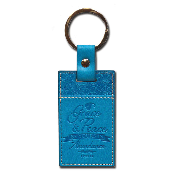 Divine Details: Keychain Blue Grace And Peace