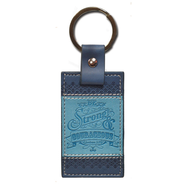 Divine Details: Keychain Blue Be Strong