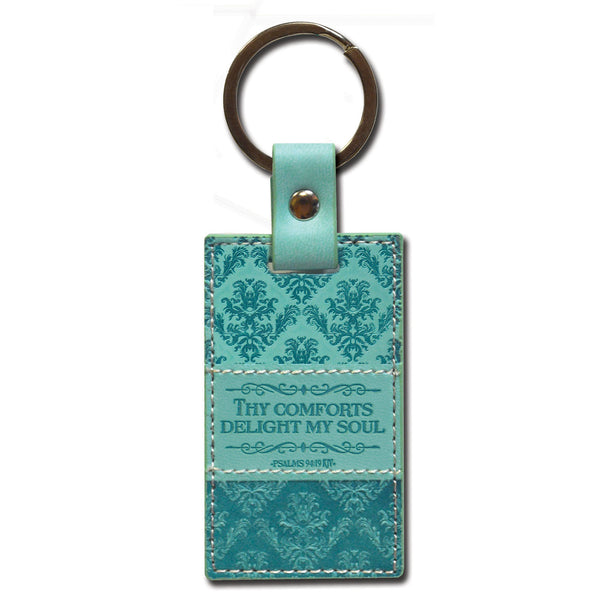 Divine Details: Keychain Teal Green Thy Comforts