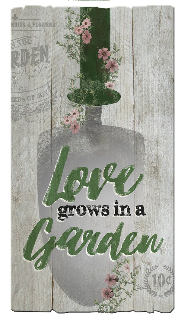 Oak Patch Gifts In the Garden: Pallet Art-Love Grows Spade