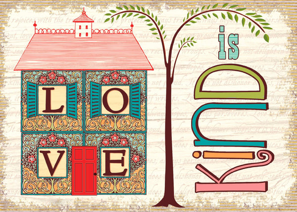 Divinity Boutique Single Cards: Thank You Love Is Kind (6 Pack)