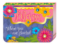 "Our purse pads are the perfect palm-of-your-hand size to keep in your purse, pocket or office. They have a convenient magnetic closure, fully designed inside, and contain added accents such as foil, gems or spot gloss. Features scripture or inspirational message. Dimensions: 4"" x 3"" x 0.5"". Material: Paper."