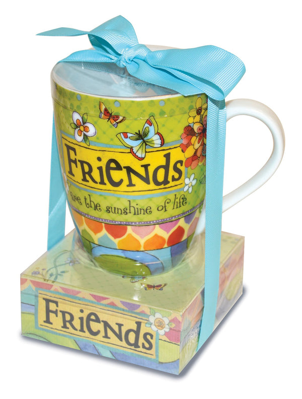 Oak Patch Gifts Relationship Mug & Notepad Giftset: Friends