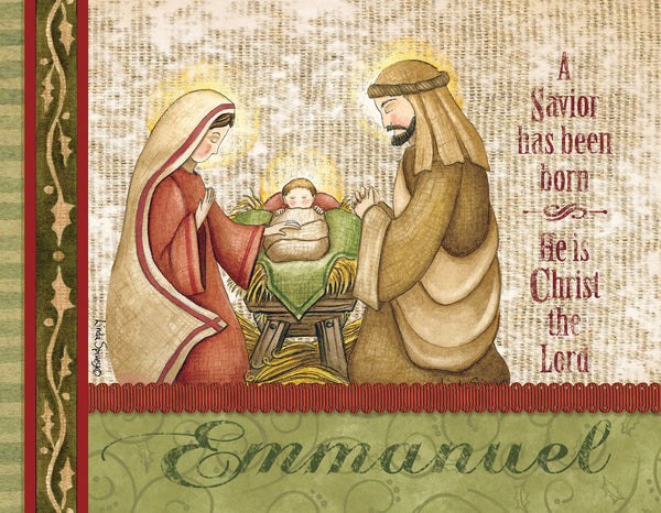 Divinity Boutique Boxed Christmas Cards: Emmanuel Mary And Joseph