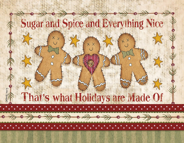 Divinity Boutique Boxed Christmas Cards: Gingerbread Family