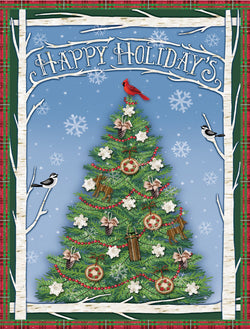 Divinity Boutique Boxed Christmas Cards: Happy Holidays Christmas Tree