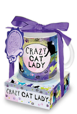 Oak Patch Gifts Mug & Note Stack: Crazy Cat Lady