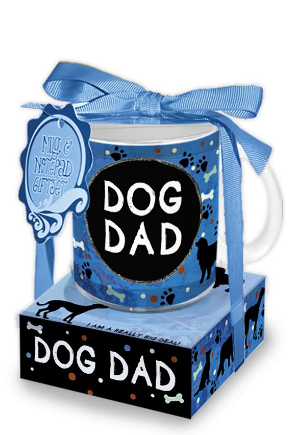 Oak Patch Gifts Mug & Note Stack: Dog Dad