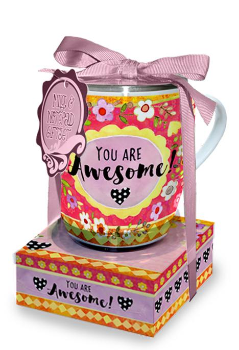 Oak Patch Gifts Mug & Note Stack: Awesome