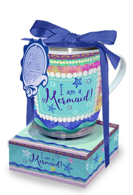 Oak Patch Gifts Mug & Note Stack: Mermaid