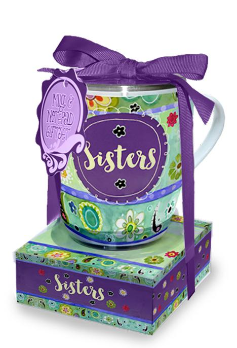 Oak Patch Gifts Mug & Note Stack: Sisters