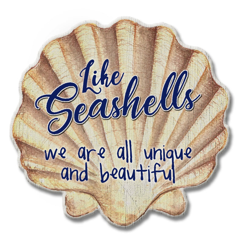 Oak Patch Gifts Coastal: Wooden Magnet: Seashells Unique & Beautiful
