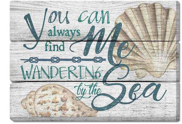 Oak Patch Gifts Coastal: Wooden Magnet: Wandering by the Sea