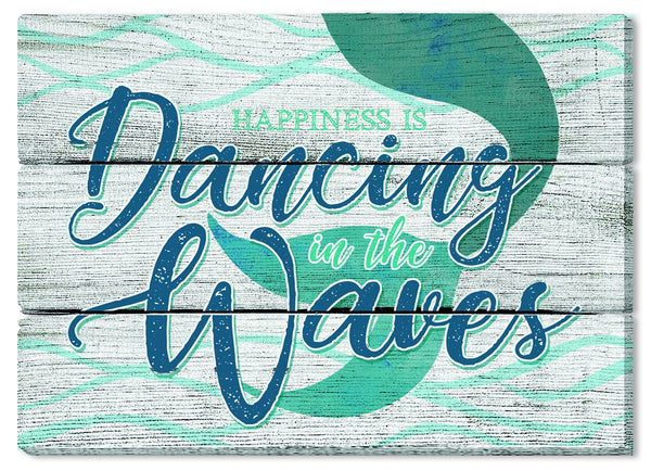 Oak Patch Gifts Coastal: Wooden Magnet: Dancing in the Waves