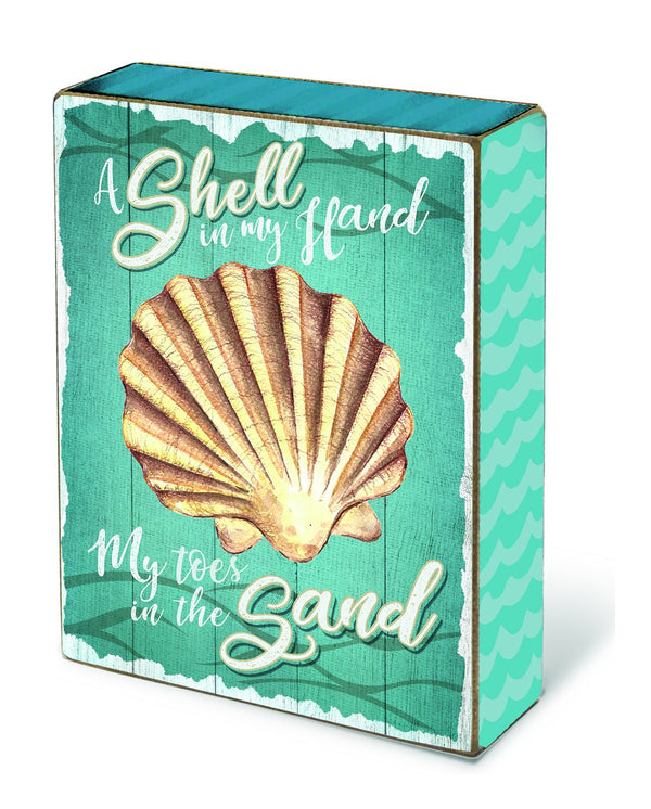 Oak Patch Gifts Coastal: Blox: Shell in My Hand