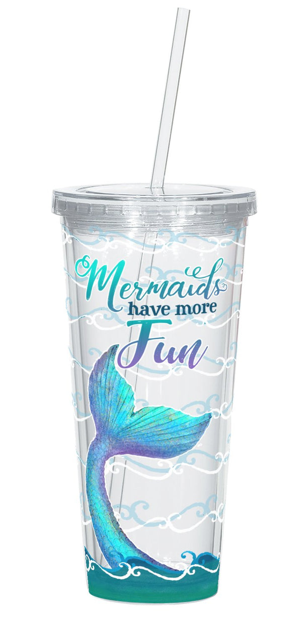 Oak Patch Gifts Mermaid at Heart: Straw Cup: Mermaids Have More Fun