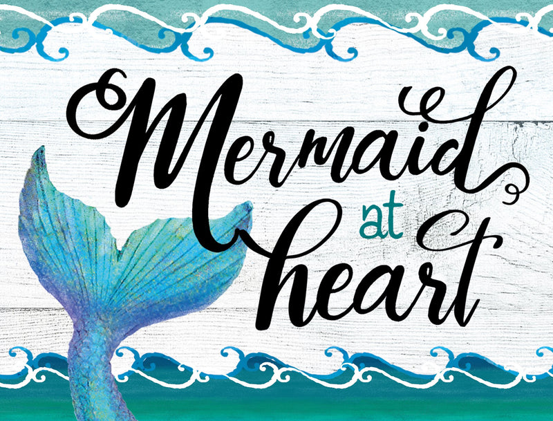 Oak Patch Gifts Mermaid at Heart: Cutting Board: Mermaid at Heart